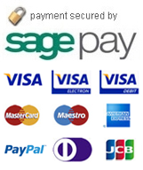 Our payment is secured by sagepay.                  We accept paypal, visa credit, visa electron, visa debit, mastercard, maestro, american express, jcb & diners club international